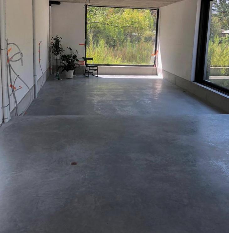 betonvloer in een woning