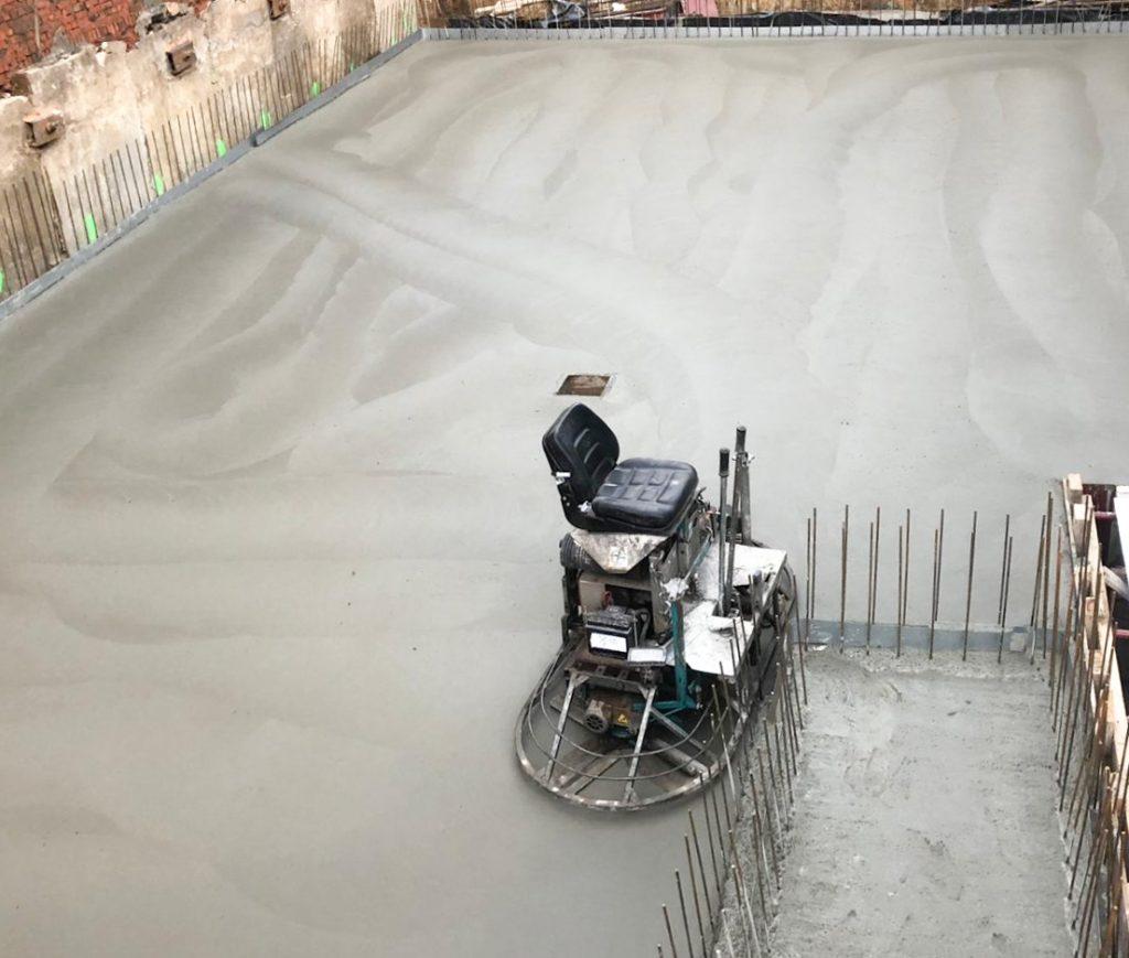 Polieren van beton
