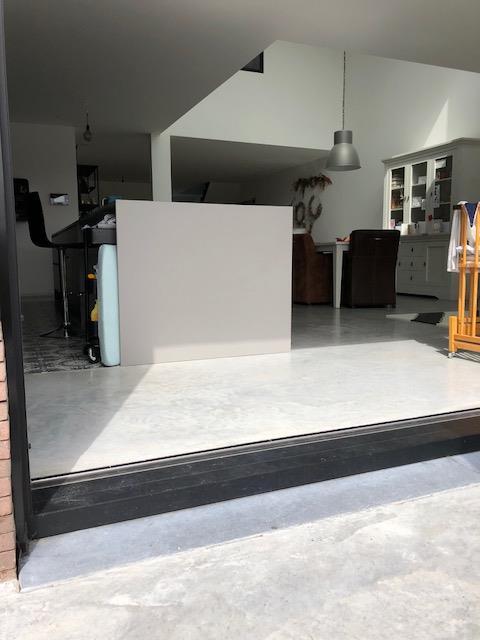 Gepolierde beton in keuken
